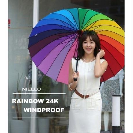 海外 ブランド 人気 雨傘 傘 レディース レインボー 大きい 可愛い おしゃれ 旅行 ショッピング 通勤 通学 サイズ 防水高密度紬生地 カジュアル 安心 サイズ