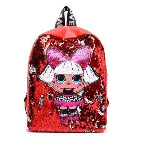 6Color 海外ブランド 人気  おしゃれ LOL サプライ バックパック リュック キッズ バック 革 安い 通勤 セール 通学 お出かけ 人形 バックパック女子 スパンコール