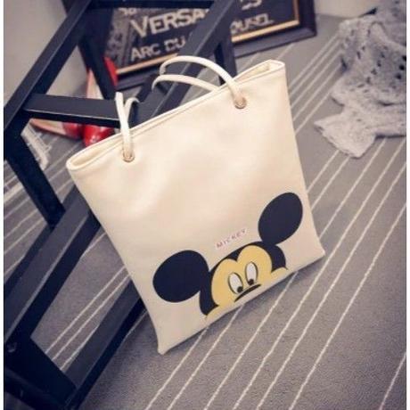 4 Color 海外ブランド 人気 ミッキーマウス ミニ―マウス ハンドバック トートバック A4 可愛い バック 大容量 ショッピング 旅行 通勤 通学 シンプル