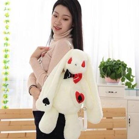 海外 ブランド 人気 バックパック ウサギ ぬいぐるみ アリス レディース 大人 ロリータ ゴシック ゴスロリ パンク 可愛い スカル 黒 白 薔薇 ドレス  B2256