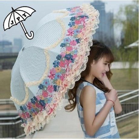5Color 海外 ブランド 人気 折りたたみ傘 日傘 レディース 可愛い 花柄 サイズ 女性用 紫外線 日焼け 対策 花 レース 上品 おしゃれ 安い 焼けない 効果