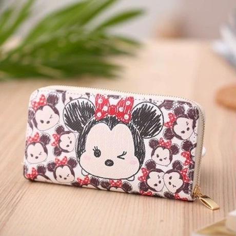 海外 ブランド 人気 長財布 レディース ミニーマウス キャラクター 財布 可愛い 安い プチプラ  レザー シンプル ディズニー ジブリ オススメ 使いやすい