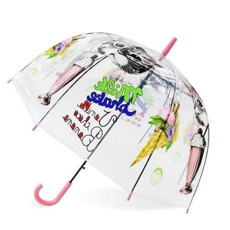 4Color 海外 ブランド 人気  傘 雨傘 可愛い キッズ 女の子  デザート サイズ ショッピング きれいめカジュアル 直径   お出かけ ビニール傘 キャラクター  可愛い傘