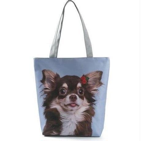 海外ブランド トートバック 大容量 ショッピングバック キャンバス 犬 レディース 海外輸入品 犬2