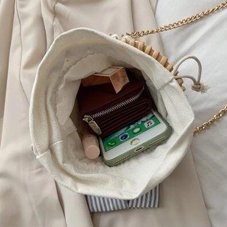 3Color 海外ブランド 人気  夏 オシャレ 大人可愛い  パール ストリングバケットバッグ レディース フェミニン 使いやすい 旅行 ショルダー ハンド ミニ バッグ B2258