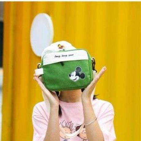 5Color 海外ブランド 人気  オシャレ 可愛い ミッキーマウス レディース キッズ フェミニン 通勤 通園 通学 旅行 キャンバス 肩掛け バック ディズニー キャラクター B1235