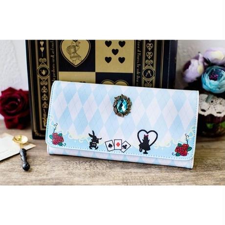 1Collar 海外 ブランド 人気 アリス ウサギ 薔薇 財布 レディース プリンセス ディズニー 長財布 革 おしゃれ 安い 可愛い 使いやすい チャーム 鍵 携帯