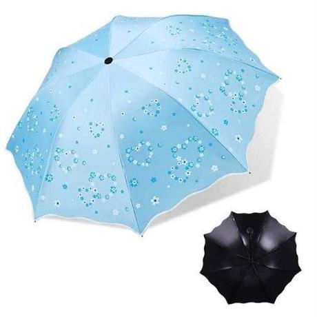 4Color 海外 ブランド 人気 日傘 傘 雨傘 可愛い ハート柄 UV(UPF50 +) サイズ 女性用 日焼け 対策 シミ シワ 海 プール ショッピング きれいめカジュアル 直径