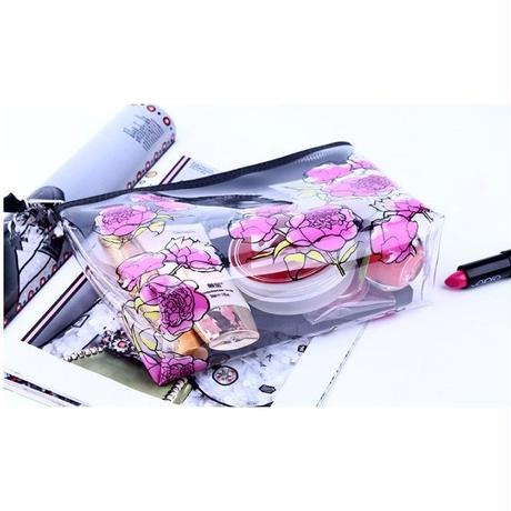 9 Color 海外ブランド 人気 ポーチ 化粧 ポーチ コスメ キレイ 花 フェミニン 収納 片付け おそろい 友達 ラベルオーガナイザーバッグ かわいい キレイ ハート