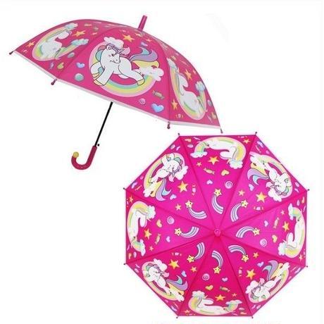 2Color 海外 ブランド 人気  ユニコーン 傘 雨傘 可愛い キッズ 女の子 サイズ 女性用 海 プール ショッピング きれいめカジュアル 直径   お出かけ ビニール傘 キャラクター