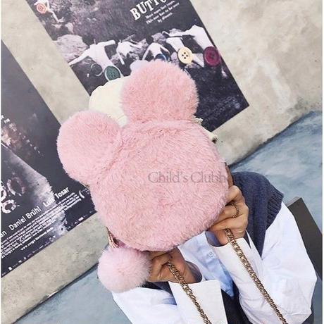 6 Color 海外 ブランド 人気 ショルダーバック もこもこ チェーン ミッキーマウス ディズニー 大好き おしゃれ ミニ 斜め掛け 可愛い お買い物 メッセンジャーバック