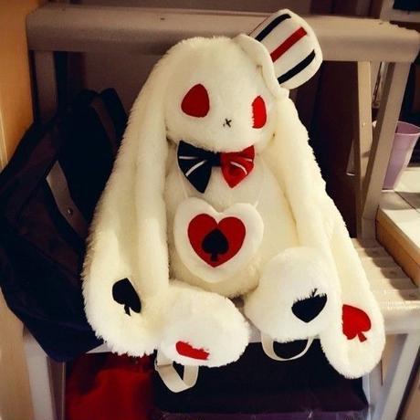 海外 ブランド 人気 バックパック ウサギ ぬいぐるみ アリス レディース 大人 ロリータ ゴシック ゴスロリ パンク 可愛い スカル 黒 白 薔薇 ドレス