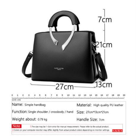 5Color 海外ブランド 人気  オシャレ 2WAY ハンドバッグ シンプル 可愛い キレイ レディース 大人可愛い フェミニン 使いやすい 通勤 通学 旅行 レザー ショルダーバック B30