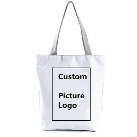 海外ブランド トートバック 大容量 ショッピングバック キャンバス 犬 レディース 海外輸入品 ロゴ