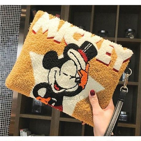 2Color 海外ブランド 人気  ミッキー ショルダーバック クラッチバック レデース バック もこもこ ミッキーマウス 可愛い おしゃれ ディズニー お出かけ 旅行 サブバック 安い