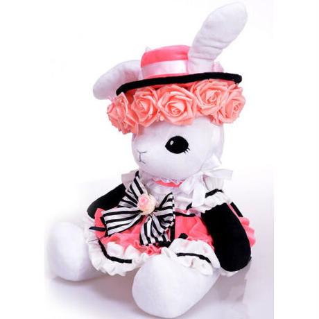 1Color 海外ブランド 人気  雑貨 可愛い  ウサギ ぬいぐるみ ゴスロリ 薔薇 レース 帽子 子供 キッズ ロリータ ゴシック
