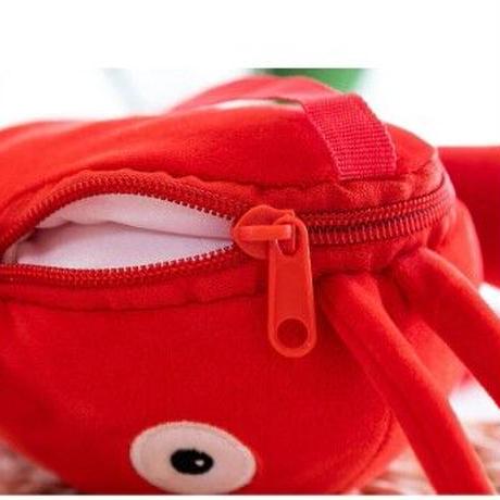 4Color 海外ブランド 人気  可愛い ザリガニ ぬいぐるみ ショルダーバッグ レディース キッズ 子供 ロブスター 旅行 バック 赤 孫 プレゼント用に B2136