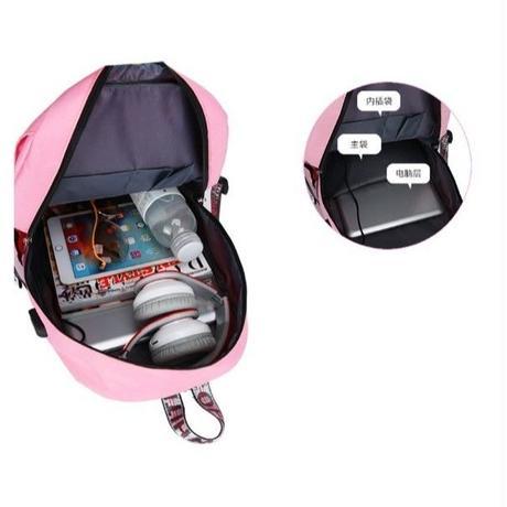 4Color 海外ブランド 人気  オシャレ 可愛い 大容量 「バックパック リボン レディース」鍵 リュック USB パンク 使いやすい 安い バック B-1872