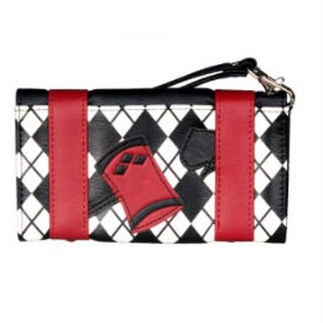 海外ブランド 人気 財布 1Color  レディース 可愛い 安い パンク ハート アリス ゴスロリ ダイヤ 赤 黒 キレイ レザー コーデ ストリート バッグ クラッチ レザー  W31