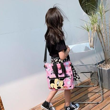 4Color 海外ブランド 人気  可愛い ミッキー ショルダーバッグ キッズ 使いやすい 軽い 習い事 通学 旅行 ディズニー カジュアル ハンド バック 2WAY  B2204