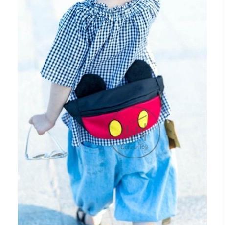 2 Color 海外 ブランド 人気  ウエストバック キッズ 女の子 男の子 ミッキーマウス ミニ―マウス ウエストポーチ 可愛い キャラクター 携帯 旅行 公園 お買い物