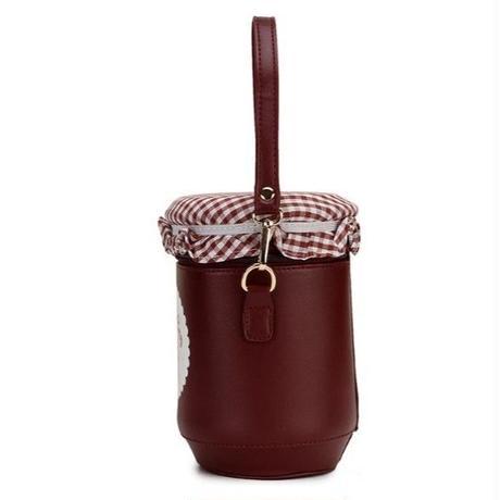 1Color 海外ブランド 人気  オシャレ 可愛い 「いちご ジャム ショルダーバック レディース」 大人可愛い フェミニン パンク 使いやすい 安い バック B-  1808