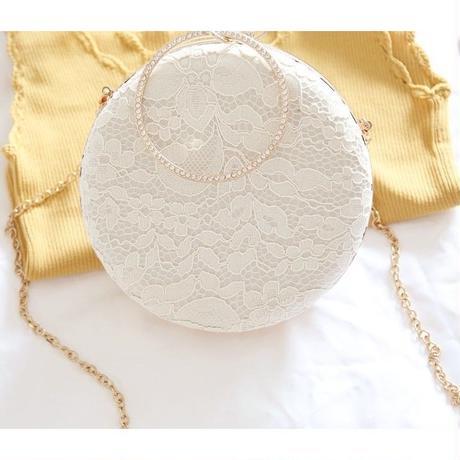 2 Color 海外ブランド 人気イブニングバック レース ラウンド luxury キレイ ドレス チェーン おしゃれ 流行 プチプラ かわいい  レディースイベントデート 海外輸入品
