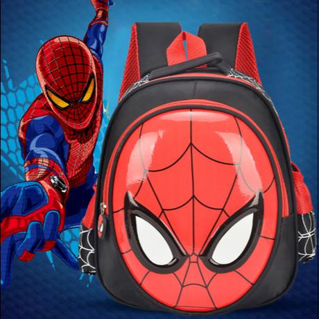 3Color 海外 ブランド 人気 リュック スパイダーマン 男の子 遠足 公園 運動会 可愛い ポケット レッスンバック バックパック 軽量 キャラクター マーベル