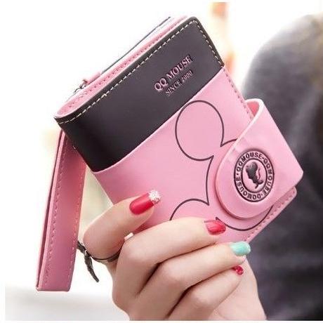 6 Color 海外 ブランド 人気 財布 おりたたみ レディース ディズニー ミッキーマウス キャラクター 安い プチプラ おしゃれ ポップ