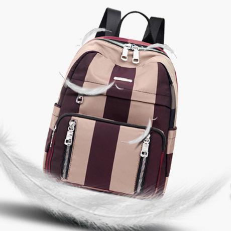 5Color 海外ブランド 人気  オシャレ ライン 可愛い バックパック レディース 大人可愛い フェミニン 使いやすい 通勤 通学 旅 行ナイロン 軽い リュック バック B 1245