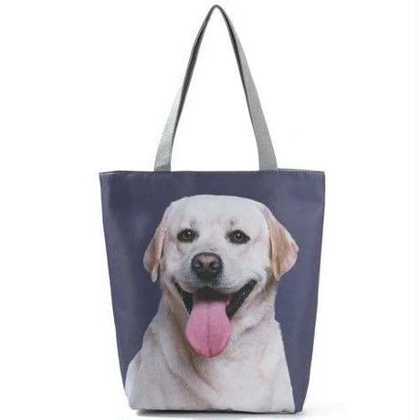海外ブランド トートバック 大容量 ショッピングバック キャンバス 犬 レディース 海外輸入品 犬3