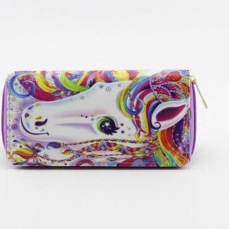 海外ブランド 人気  財布 可愛い ユニコーン キャラクター 学生 旅行 お出かけ 使いやすい 安い  可愛い 使いやすい ファスナー シンプル オススメ プレゼント 革