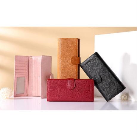 海外ブランド 人気 本革 シンプル 財布 4Color  レディース 可愛い 安い ビジネス 上品 キレイ レザー カジュアル モード コーデ ストリート 大人 ビジネス  W2075