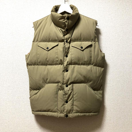 The North Face Down Vest 茶タグ 黒ラッカー ボタン