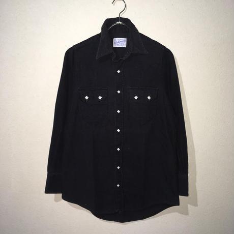 Rockmount Western Shirt Black Corduroy