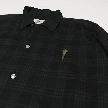 60's ペニーズ タウンクラフト ビンテージ コットン シャツ ブラック