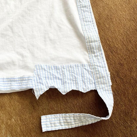 Classic Logo patchwork Tee  (White)