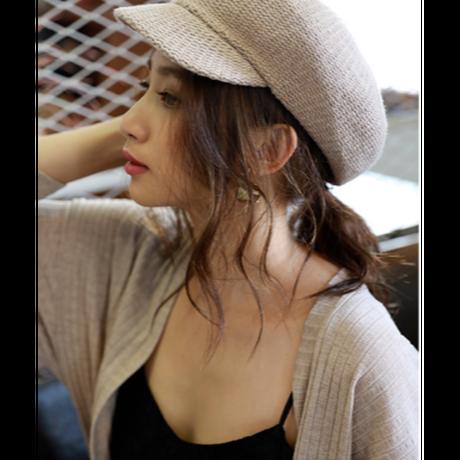 秋冬ニットキャスケット 帽子 2色