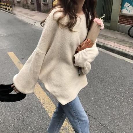 カラーオーバーサイズニット セーター 4色