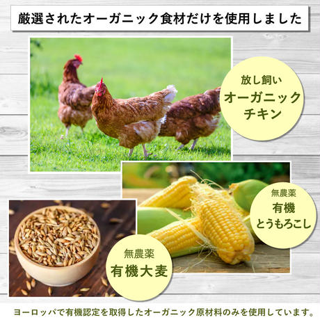 【まとめ買い・3個セット】フォッカービオドッグ(成犬用)無添加オーガニックドッグフード 2.5kg