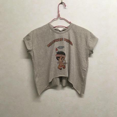 bedsidedrama × frankygrow ダイバーシティリボンTシャツ インディアンガール