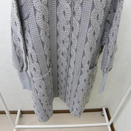 bedsidedrama 編み模様のAラインコート