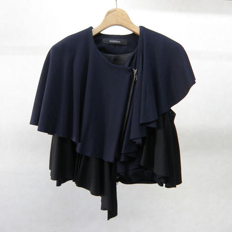 SHIROMA ruffle knit jacket