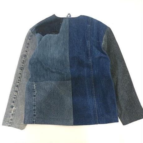 Denim No collar Jacket /Womans②/フリーサイズ