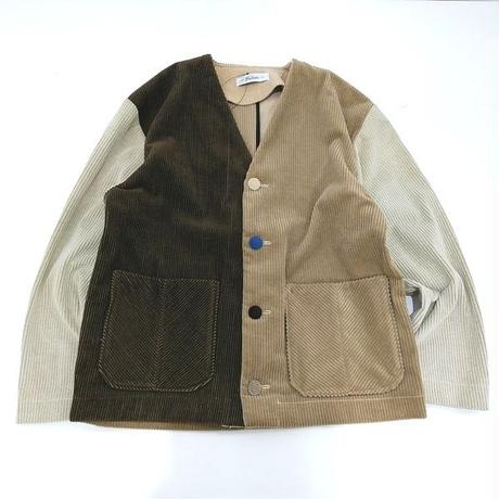 Corduroy Nocollar Jacket-Womans⑤
