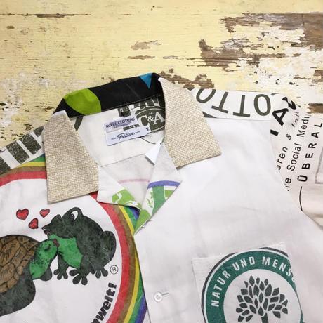 Eco shirts‐Open collar④/サイズM