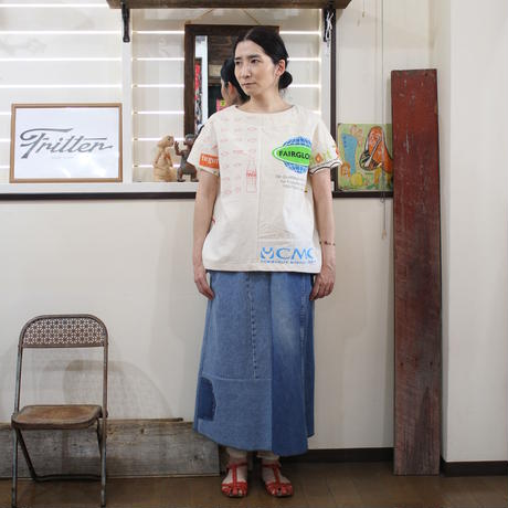 Denim Long Skirt①/フリーサイズ