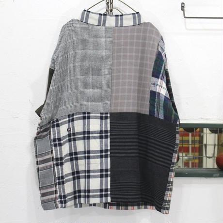 Flannel Mock neck pullover①