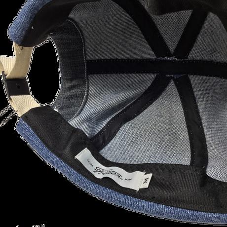 Denim Roll Cap④/サイズM/ブルー