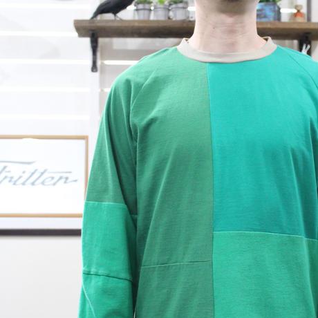 Patchwork Raglan Sleeve④/サイズL